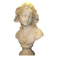 Antique Victorian Age Bust of French Maid