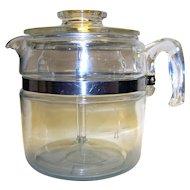 Vintage Pyrex Flameware Stovetop 8-Cup Coffee Maker
