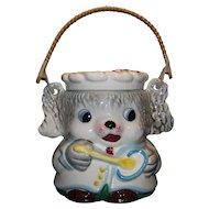 Vintage 1950's Figural Animal Ceramic Cookie Jar