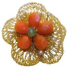 Vintage Ladies Costume Jewelry Brooch