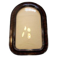 Vintage 1920's Cathedral Style Faux Tiger Wood Convex Glass Frame