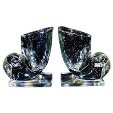 Vintage Martinsville Cornucopia Glass Bookends