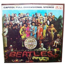 Vintage Beatles Sgt Peppers Lonely Hearts Club Band Recording