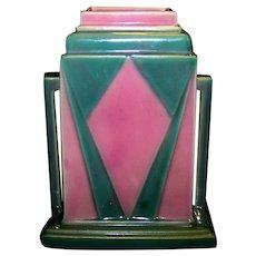 Vintage Art Deco Roseville Futura Jukebox Vase