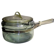 Vintage Pyrex Flameware Glass Saucepan