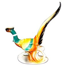 Vintage Porcelain Spaulding Royal Copley Pheasant Male Pheasant