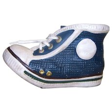 Vintage Chuck Taylor Style Ceramic Sneaker Coin Bank