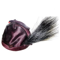 Vintage Millinery 1920's-30's John Frederic's Charmer Silk Ladies Skull Cap Hat