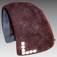 Vintage Millinery 1920's-30's Henry Pollak Of New York Ladies Velour Skull Cap Hat