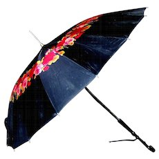 Vintage Rose Patterned Umbrella