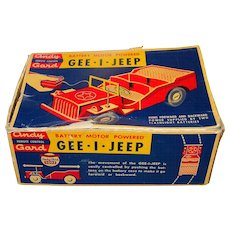 Vintage Andy Gard Gee-I-Jeep Battery Powered Remote Controlled Toy