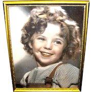 Vintage Shirley Temple Facsimile Autographed Framed Color Photograph