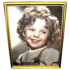 Vintage Shirley Temple Facsimile Autographed Framed Color Photograph