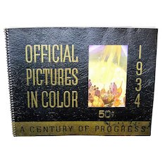 Vintage 1934 Chicago World's Fair Official Color Pictorial Book