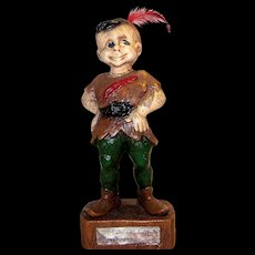 Vintage 1946 Syroco Wood Statuette
