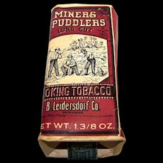 Vintage Miners Puddlers Long Cut Smoking Tobacco Package