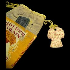 Vintage Golden Grain Smoking Tobacco Ten Cent Pouch