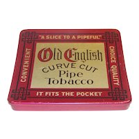 Vintage Old English Curve Tobacco Tin