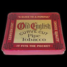 Vintage Old English Curve Tobacco Tin