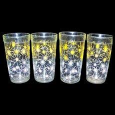 Vintage Mid-Century Hazel Atlas Atomic Starburst Glasses