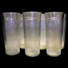 Vintage Kerr Glass Icicle Pattern Tea Glasses