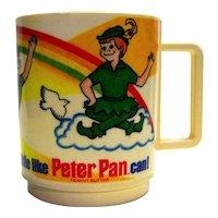 Vintage 1983 Peter Pan Peanut Butter Plastic Childs Cup