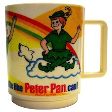 Vintage 1983 Peter Pan Peanut Butter Plastic Childs Cup