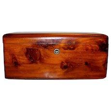 Vintage Lane Cedar Wood Jewelry Box