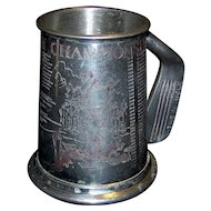 Vintage English Pewter American Open Champions Golf Cup
