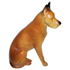 Vintage Made In Japan Shafford Porcelain Great Dane Dog Figurine