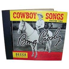 Vintage Bing Crosby Cowboy Songs Album