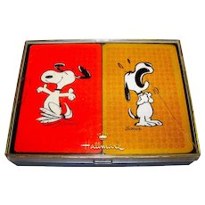 Vintage Hallmark Snoopy Playing Card Set