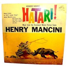 Vintage Henry Mancini RCA Victor Hatari Movie Record Album