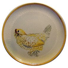 Vintage Italian Hand Painted Game Bird Plate