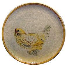 Vintage Italian Hand Painted Game Bird Plate