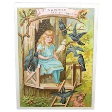 Vintage Nineteenth Century White Sewing Machine Trade Card