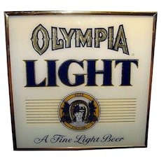 Vintage Olympia Beer Advertising Sign