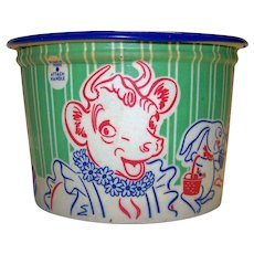 Vintage Borden's Dairy Company Cottage Cheese Container