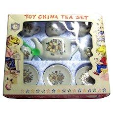 Vintage 1950's Children's Toy China Tea Set