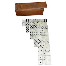 Vintage Miniature Handcrafted Dominoes with Spinners
