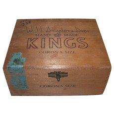 Vintage W.H. Snyder & Sons Wooden Cigar Box
