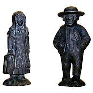 Vintage Cast Iron Pennsylvania Dutch Figurines