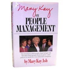 Vintage First Edition First Printing Autographed Book People Management By Mary Kay