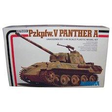 Vintage 1976 Aurora German Pzkpfw. V Panther A Tank Model Kit