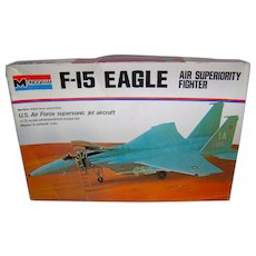 Vintage 1974 Monogram F-15 Eagle Model Kit