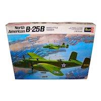 Vintage 1971 Revell North American B-25B Doolittle Bomber Model Kit