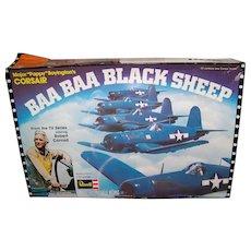 Vintage 1976 Revell Corsair Baa Baa Black Sheep Airplane Model Kit