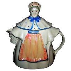 Vintage 1950's Shawnee Figural Granny Anne Ceramic Lidded Teapot