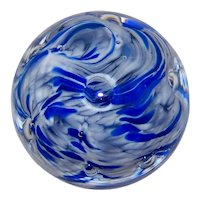Vintage GW Signed Controlled Bubble Paperweight