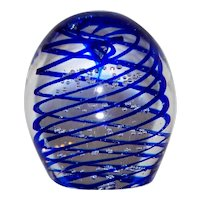 Vintage Gentile signed Art Glass Paper Weight